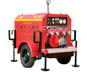 High Capacity Trailer Fire Pumps